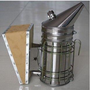 Edelstahl Bee Hive Raucher Verzinktem Eisen Mit Wärme Schild Schutz Bienenzucht Bienenzucht Werkzeug Ausrüstung