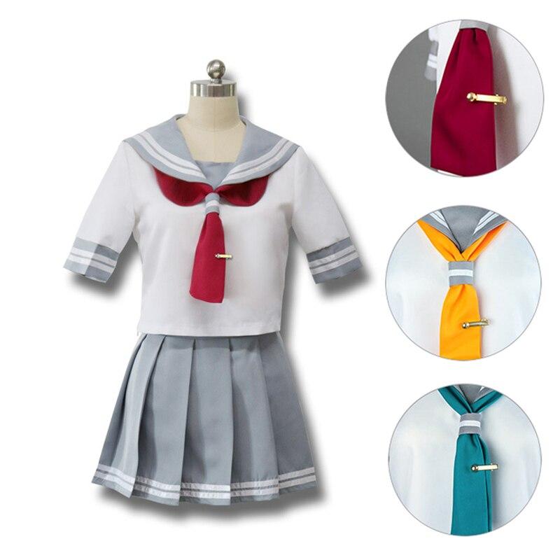 Anime Love Live Cosplay Costume School Uniforms Love Live Aqours Takami Chika Girls Sailor Uniforms Costume