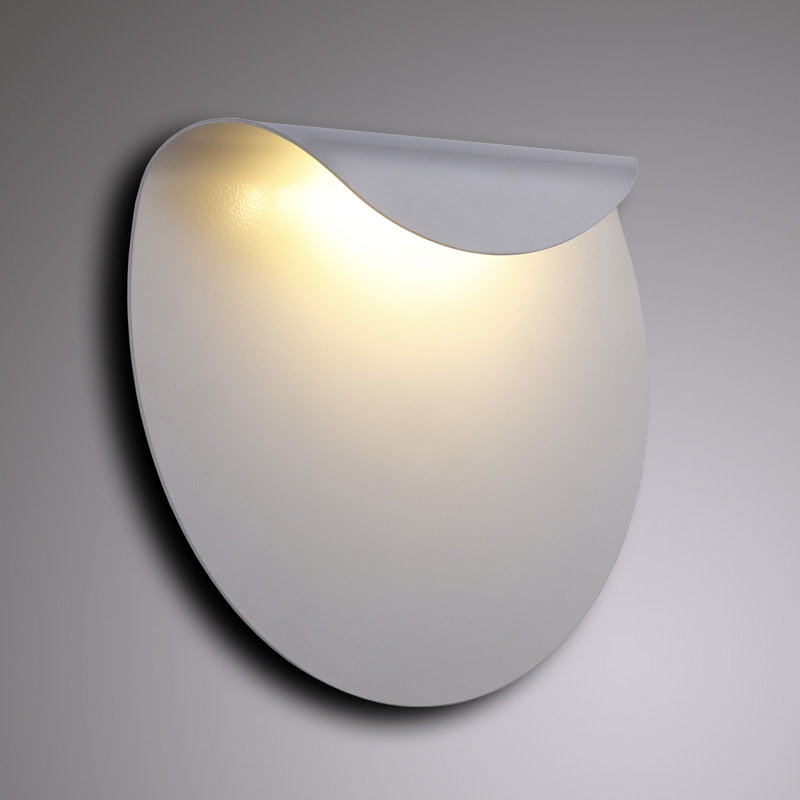 New modern creative Wall Lamps semi-circular bedroom bedside corridor aisle staircase living room LED lamps LU71127 YM modern minimalist 9w led acrylic circular wall lights white living room bedroom bedside aisle creative ceiling lamp