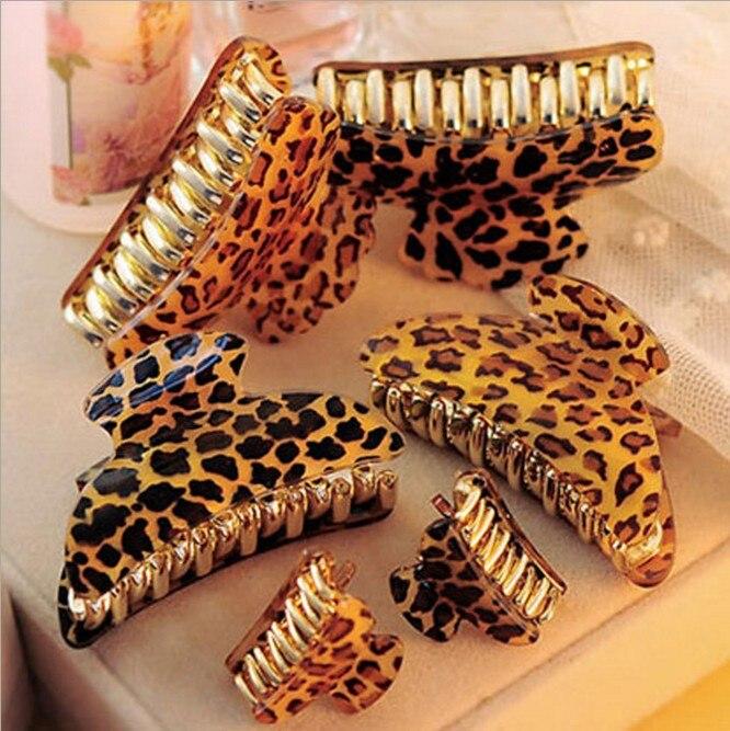 Новые пикантные леопардовые коготь клип элегантный благородный кратким Yakeli шпилька Для женщин Средний Размеры 3 сувениры Аксессуары