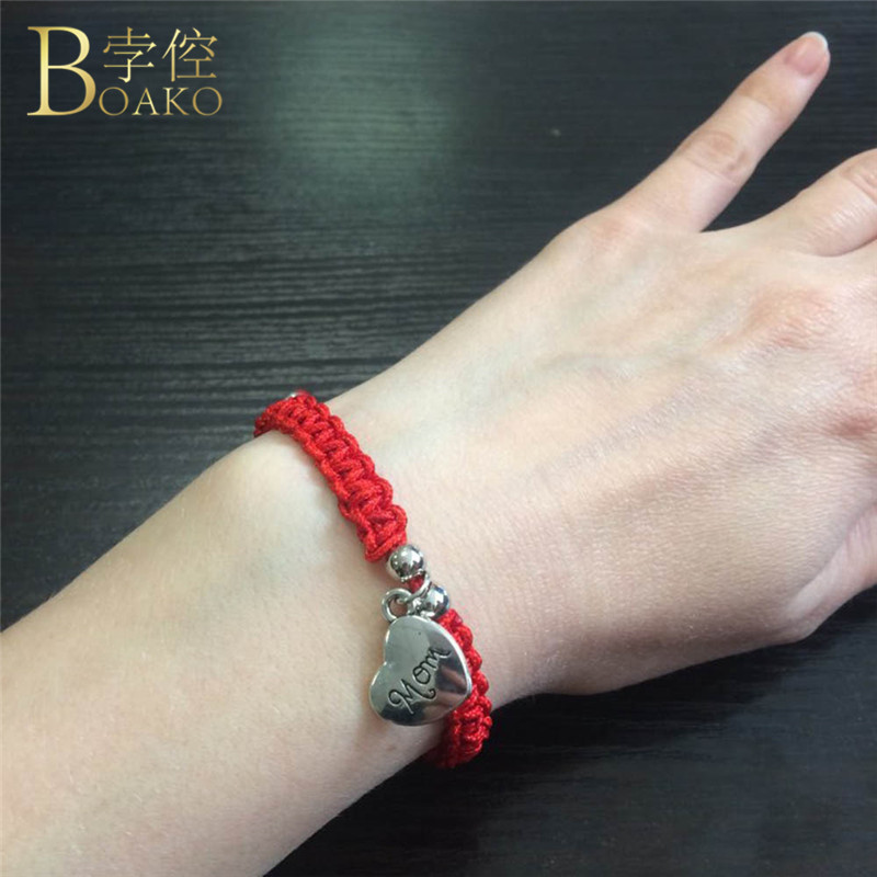 Diligent Boako Lucky Red String Thread Women Men Bracelet Turkish Charm Women Handmade Mother's Day Gift Bangle Jewelry Pulseras Mujer R4 Easy To Repair