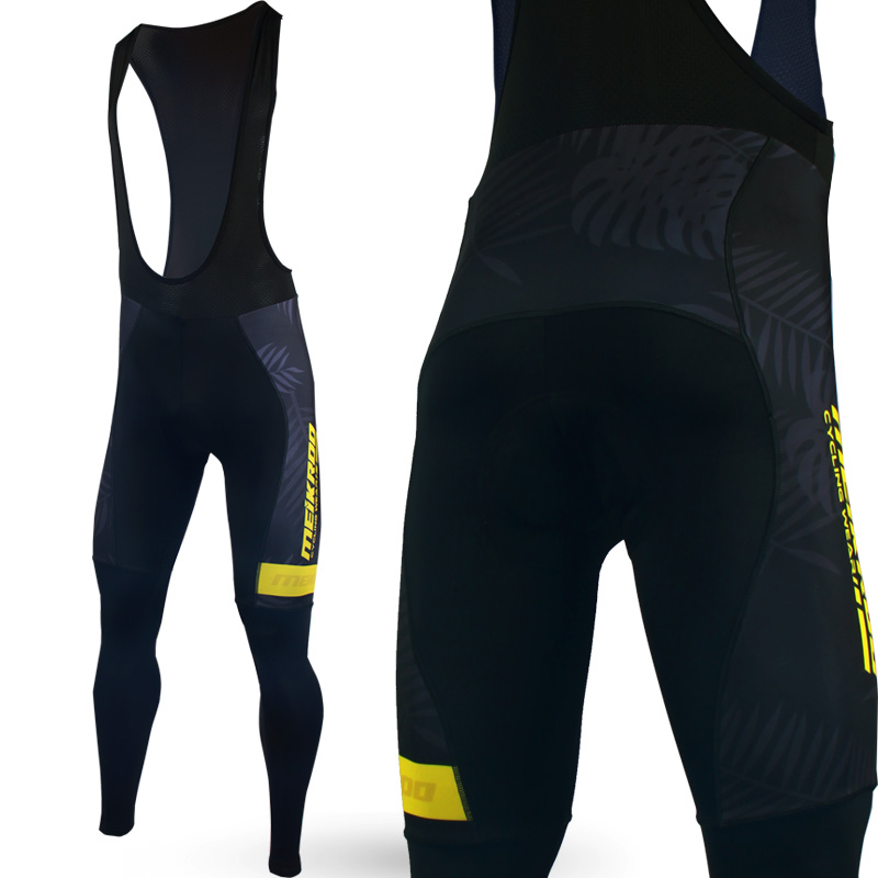 Original Meikroo cycling bib long pants Pro Team Aloha pattern cycling bib tights for male with low price star pattern footless tights