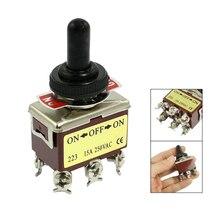 Топ-Лист AC 250 В 15A 6 Pin DPDT On/Off/On 3 Позиция Мини Тумблер
