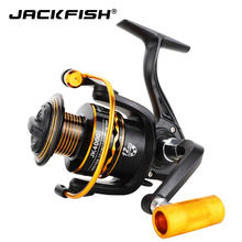 JACKFISH Metal Handle Fishing Reel 12BB 1000 – 7000 series spinning reel for feeder fishing wheel pesca Fishing Tackle