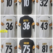 8108dd0a4d6 Steelers Free shipping A+++ quality Mens adults Jersey 36 Jerome Bettis 32  Franco Harris 12 Terry