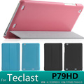 En la tienda de ultra-delgado de la pu de cuero elegante del soporte case cubierta para teclast p79hd 3g 7 pulgadas tableta cubierta case + protector de pantalla