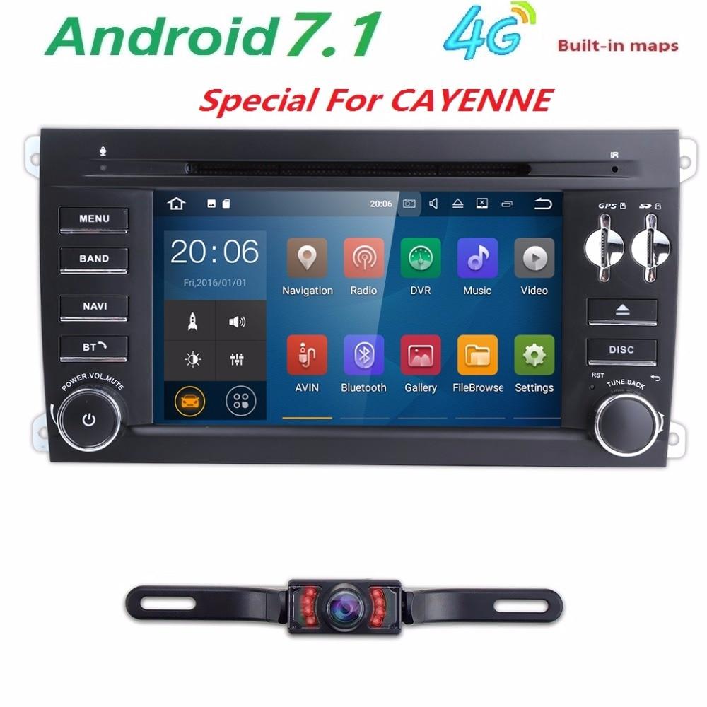 2din android7.1 dvd плеер автомобиля для Porsche Cayenne 2003 2004 2005 2006 2007 2008 2009 2010 с 4 г Wi Fi GPS Радио 2 ГБ Оперативная память BT Cam