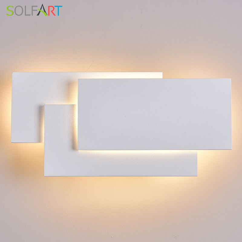 Lâmpadas de parede led wall mounted arandelas moderna arandela lustre alumínio pintado branco preto luz da parede