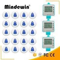 MindewinCall TransmitterMulti-funktion Taste Und 3 Uhr Empfänger Restaurant Pager Wireless Aufruf System Catering Ausrüstung