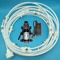 A239 12 v DC Hydraulische Pumpe Membran Wasserpumpe Mit 12 mt Beschlagen Bewässerung Kits 16 stücke Düsen für Terrasse kühlung Bewässerung System