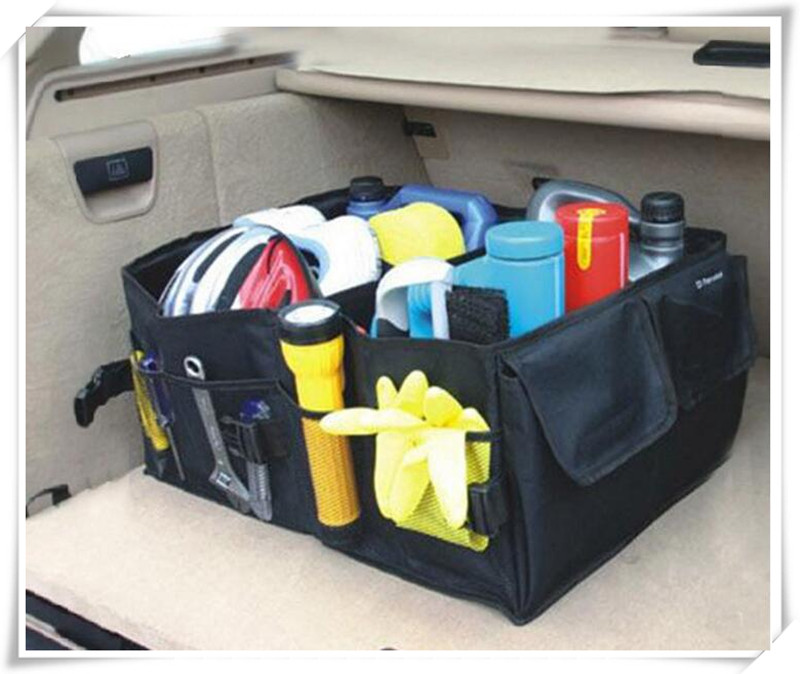 Car Back Folding Storage Box Car Portable Storage For Renault duster megane 2 Lada granta vesta Audi a4 b6 a3 BMW e46 e39 e36