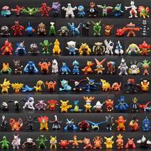 144 Style Mini Pocket Monster Pikachu Charizard Anime Collcetion Pokeball 2-3cm Toy Figures Children Birthday Christmas Gifts