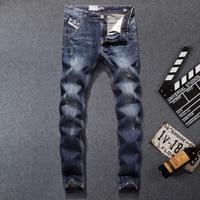 Italian Style Fashion Designer Men Jeans Latest Retro Denim Stripe Jeans Mens Pants Slim Fit DSEL