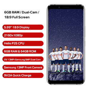 """Image 2 - LEAGOO S8 Pro Smartphone 5.99""""FHD+ IPS 2160*1080 Screen 6GB+64GB Android 7.0 MT6757CD Octa Core Dual Rear Cams 4G Mobile Phone"""