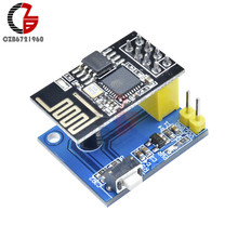 Wireless Wifi ESP8266 ESP-01 ESP-01S DS18B20 Temperature Sensor Module for Smart Home Teperature Controller Regulator Thermostat(China)