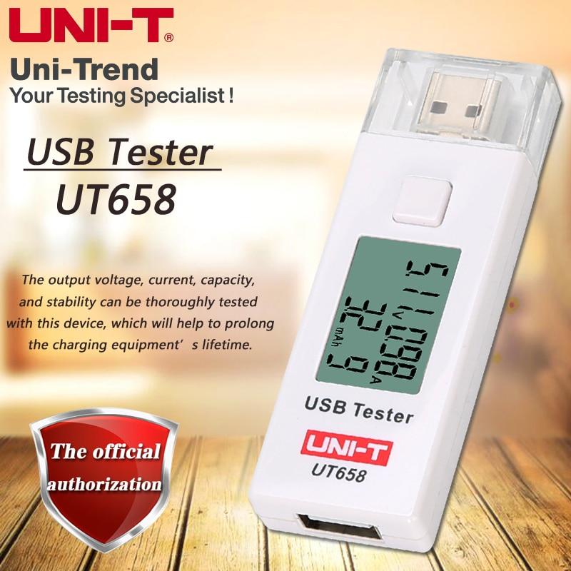 UNI-T UT658 UT658B USB Tester Mobile Phone Notebook Mobile Power Safety Monitor 3.0V-9.0V/0.0A-3.0A