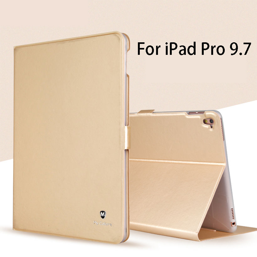 Luxury Silicone PU Leather Case For iPad Pro 9.7 inch Case Cover Funda Tablet Ultra Slim Flip Stand Shell For iPad Pro 9.7 case for funda ipad pro 12 9 luxury business leather case tablet 12 9 inch wake up hand belt holder stand flip bags alabasta