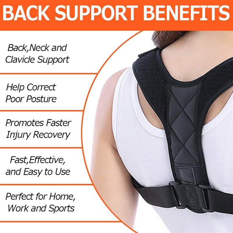 New Posture Corrector Spine Back Shoulder Support Corrector Band Adjustable Brace Correction Humpback Back Pain Relief 2
