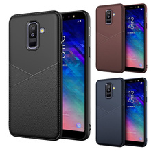For Samsung A6 A8 plus mobile phone shell business J2 J5 J7prime leather TPU protective cover all J2pro inclusive soft new