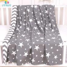 Хлопковое детское пуховое одеяло для новорожденных серое мягкое