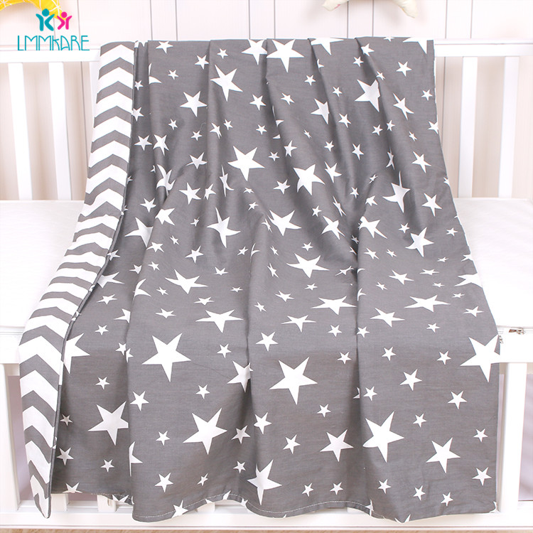 Newborns Cotton Baby Duvet Cover Grey Soft Bedding Quilt Blanket Breathable Comforter Covers Cartoon kid Single