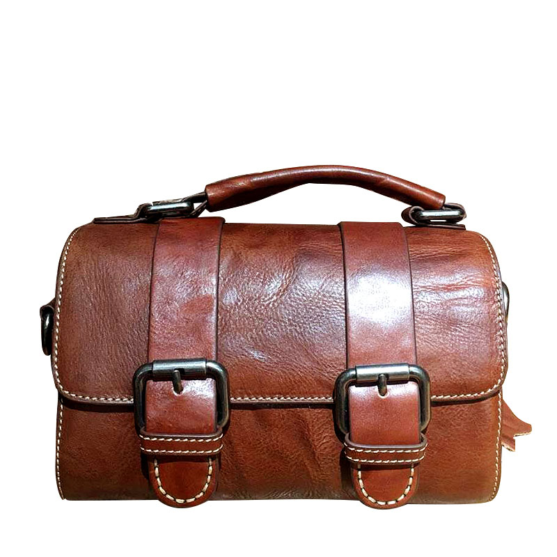 Difenise Vintage Solid Women Handbags Genuine Plane Tanned Leather Flap Bags Famous Designers Messenger Bags Popular Cover Bags twenty four women brand flap bags natural genuine leather handbags with chain solid color cover small bags young cross body bags