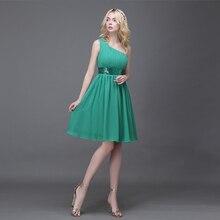 Schulter Grün Pailletten Chiffon Mode Maßgeschneiderte Cocktailkleid Kurze