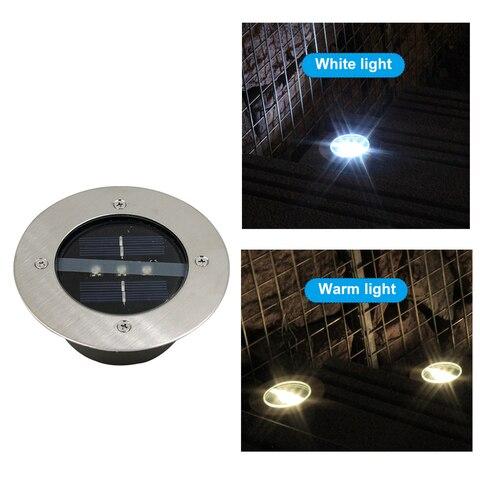 3led deck luzes solares enterrados lampada do gramado de aluminio lampadas para decoracao ao ar