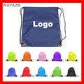 (300pcs/lot) custom logo backpack kids gift bag for promotion