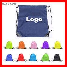 (300 шт./лот) логотип рюкзак дети мешок для продвижения