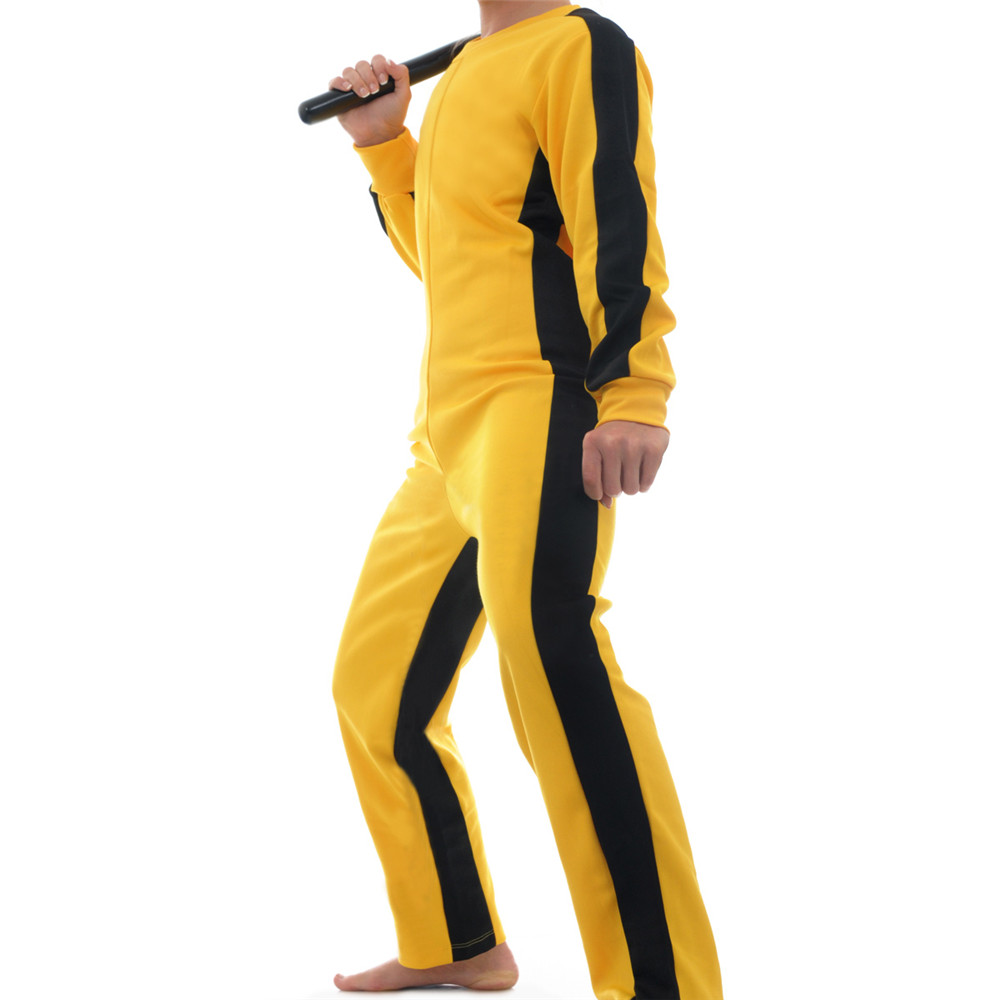 New Game Of Death Suit Yellow Martial Artist Jumpsuit Chinese Kung fu Uniform Clothes Tracksuit Halloween
