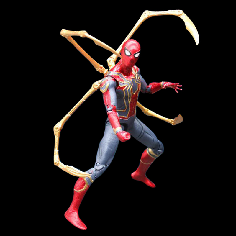 Spiderman Marvel Avengers Infinity War Iron Spider 18cm BJD Super Hero Figure Model Toys for Children new arrival marvel avengers super hero spiderman spider man carnage action figure