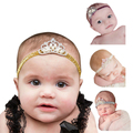 Amazing Crown Children's hair band Princess Baby Girl Crystal Pearl Crown Hairband Baby hair accessories