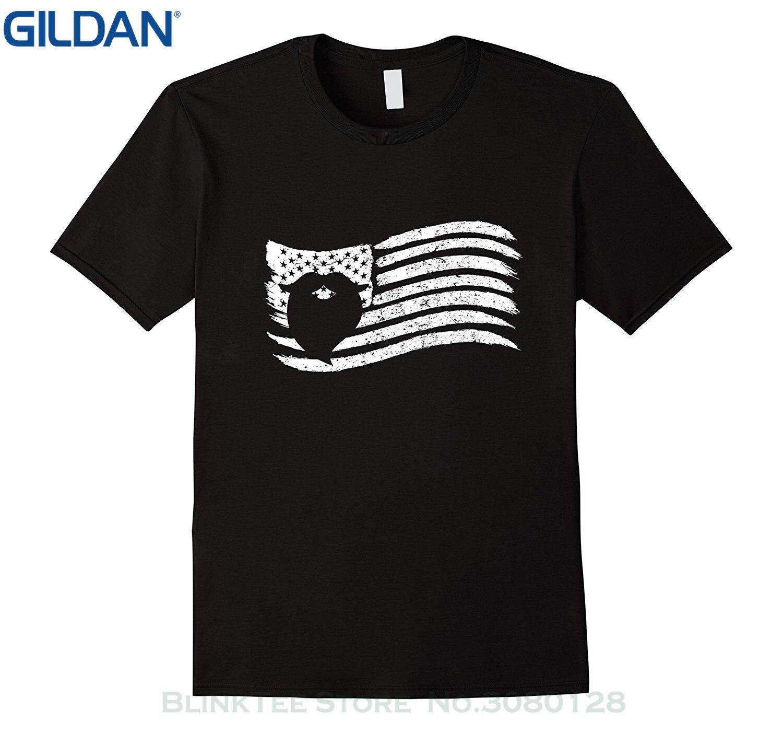 Black flag t shirt vintage - Gildan Newest 2017 Fashion Stranger Things T Shirt Men American Flag T Shirt With Beard Vintage Look