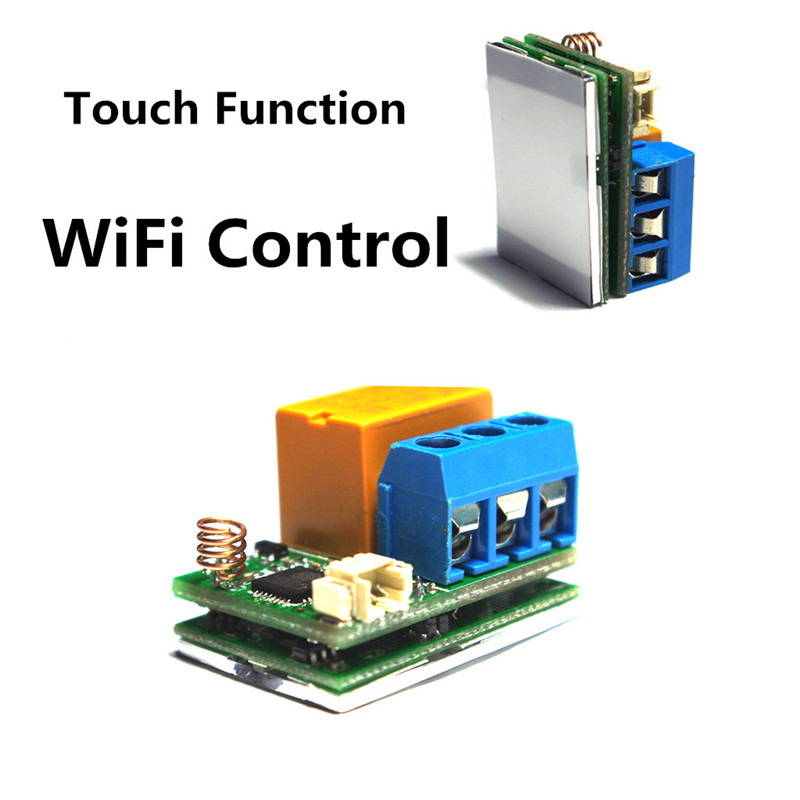 ESP8266 Wifi Touch Relay Module ESP8266 WIFI Internet of Thing Module for Smart Switch Phone App Control 32M Flash esp8285 serial wifi module esp m2 ai home 16mbit control module fcc beyond esp8266