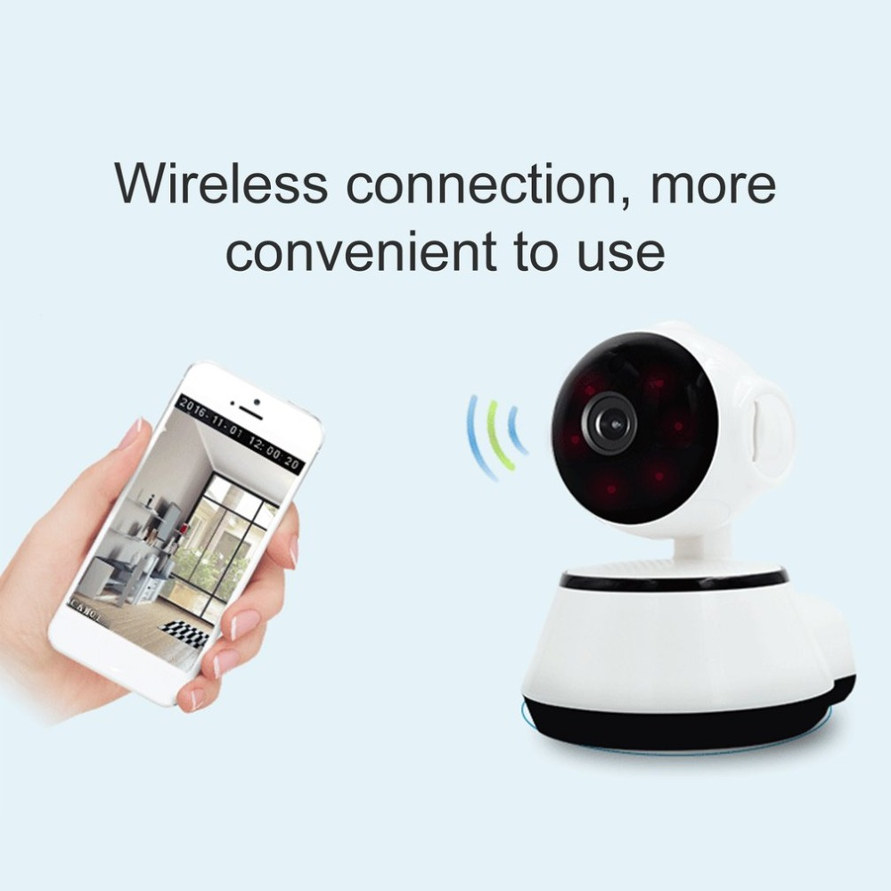 LESP Baby Monitor Mini IP Camera 720P HD 3.6mm Wireless Smart WiFi Baby Camera Audio Record Surveillance Home Security Camera