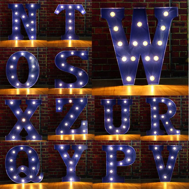 Alphabet Letter LED Light Bulbs LED Wall Lamp Light Up Decoration Symbol Decoration Wedding Party Window Display Light цена