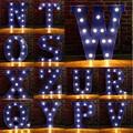 Letra do alfabeto de Lâmpadas LED Lâmpada Luz Up Decoração Festa de Casamento Decoração de PAREDE Símbolo de Exibição Da Janela de Luz