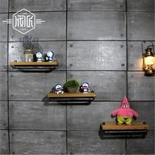 Wall Hanging Shelf Metal Wood Storage Holders Racks Bathroom Shelves for Living Room Kitchen