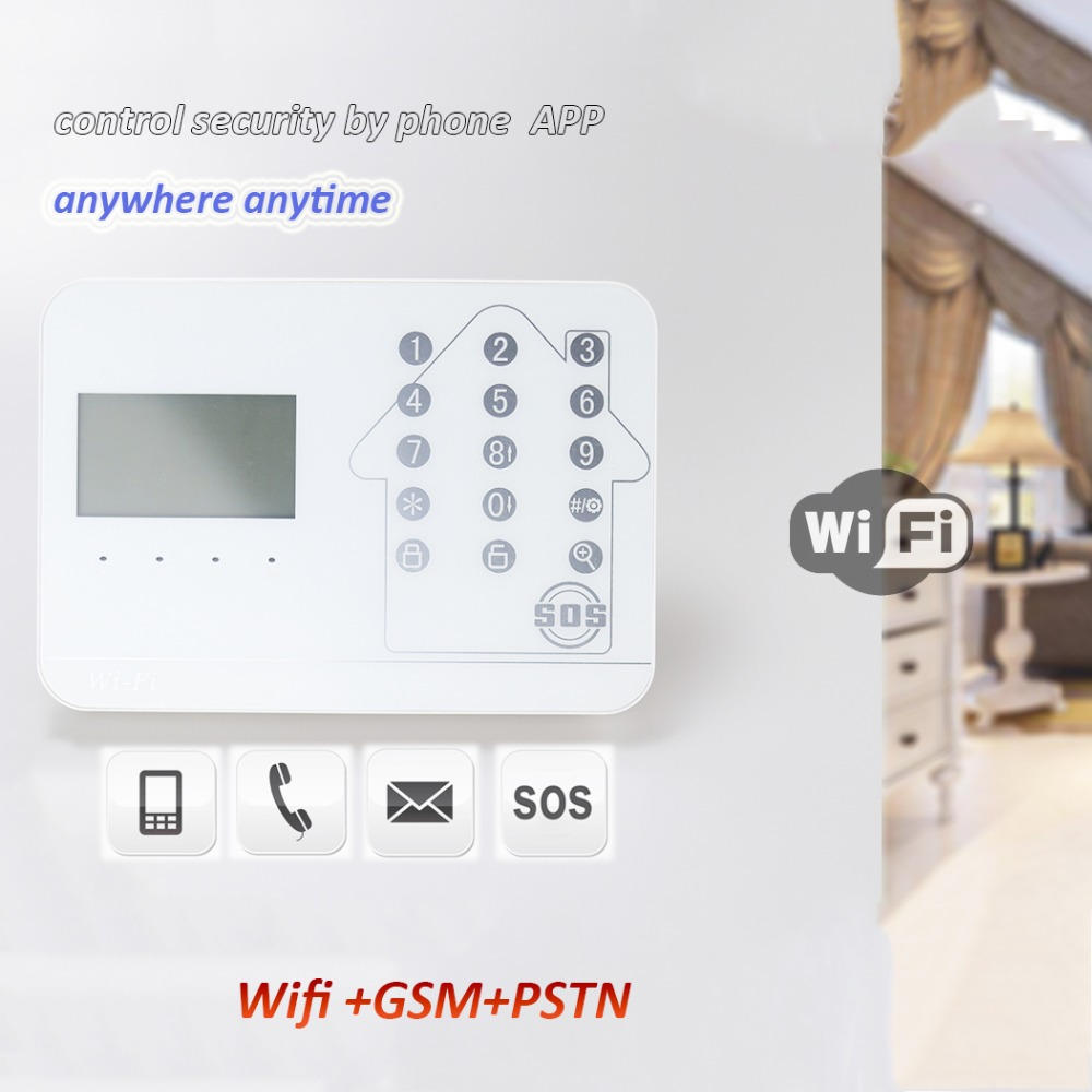 IOS Android APP GSM WIFI Burglar GSM Alarm System Wireless GSM Alarm System Support IP camera motion detector шинопровод однофазный 10567 volpe ubx q121 ks2 white 100