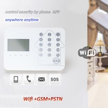 IOS Android APP GSM WIFI Burglar GSM Alarm System Wireless GSM Alarm System Support IP camera motion detector