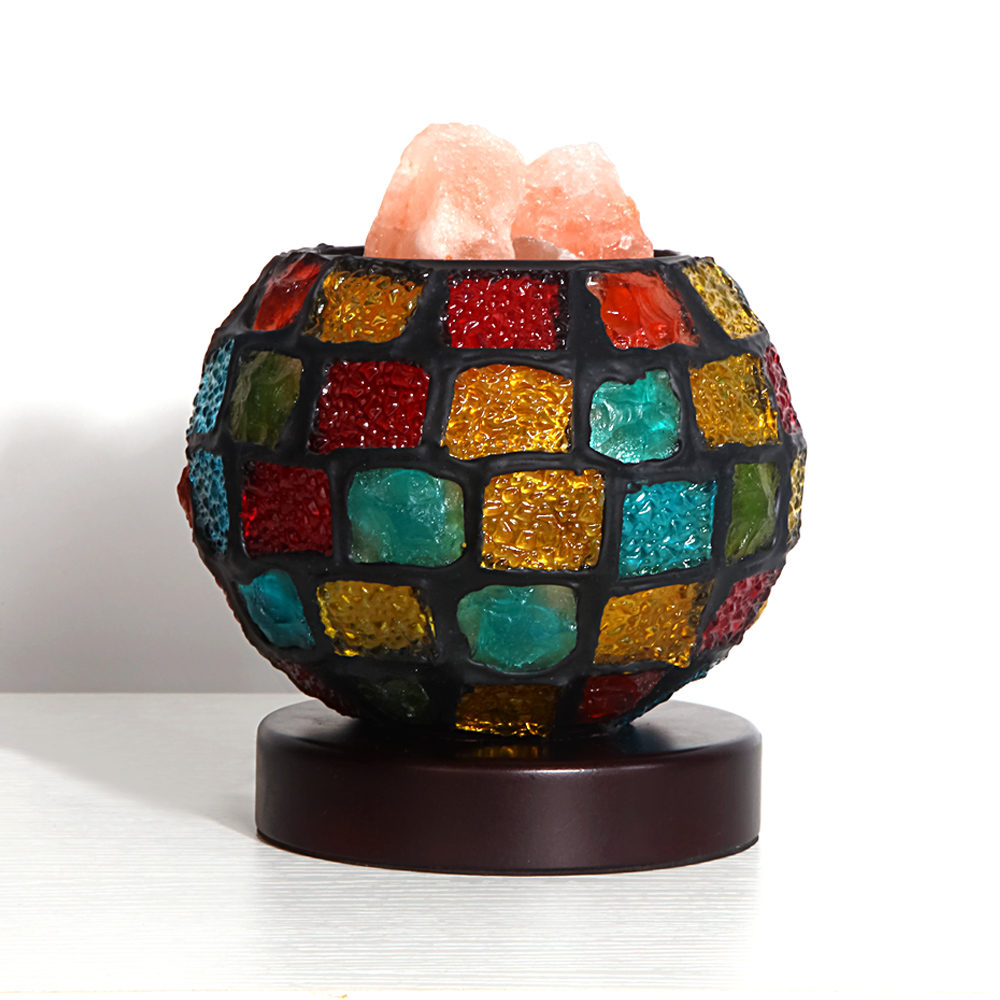 Мозаика Стекло мяч настольная лампа Тиффани Творческий Спальня прикроватные настольная лампа кристаллический