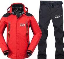 2018 бренд Daiwa Рыбалка комплекты для девочек для мужчин дышащие набор спортивной одежды пеший Туризм ветрозащитный Одежда Daiwa куртка и брюки