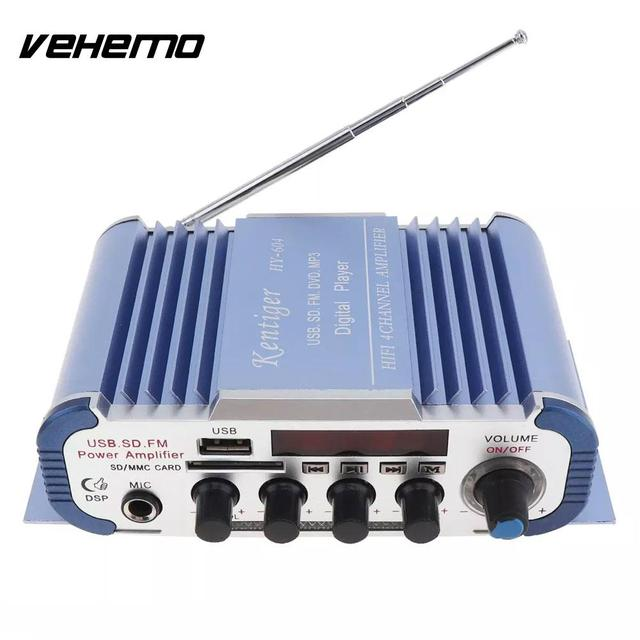Best Offers Audio Amplifier Power Amplifier 4 Channels Car Amplifier DVD Multi-Function 4*41W Portable FM