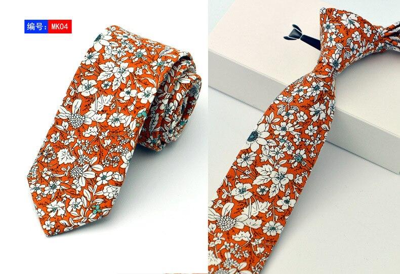 15 Stili New Casual Cravatte 100% Cotone Per Uomo Vintage Stampato - Accessori per vestiti - Fotografia 3