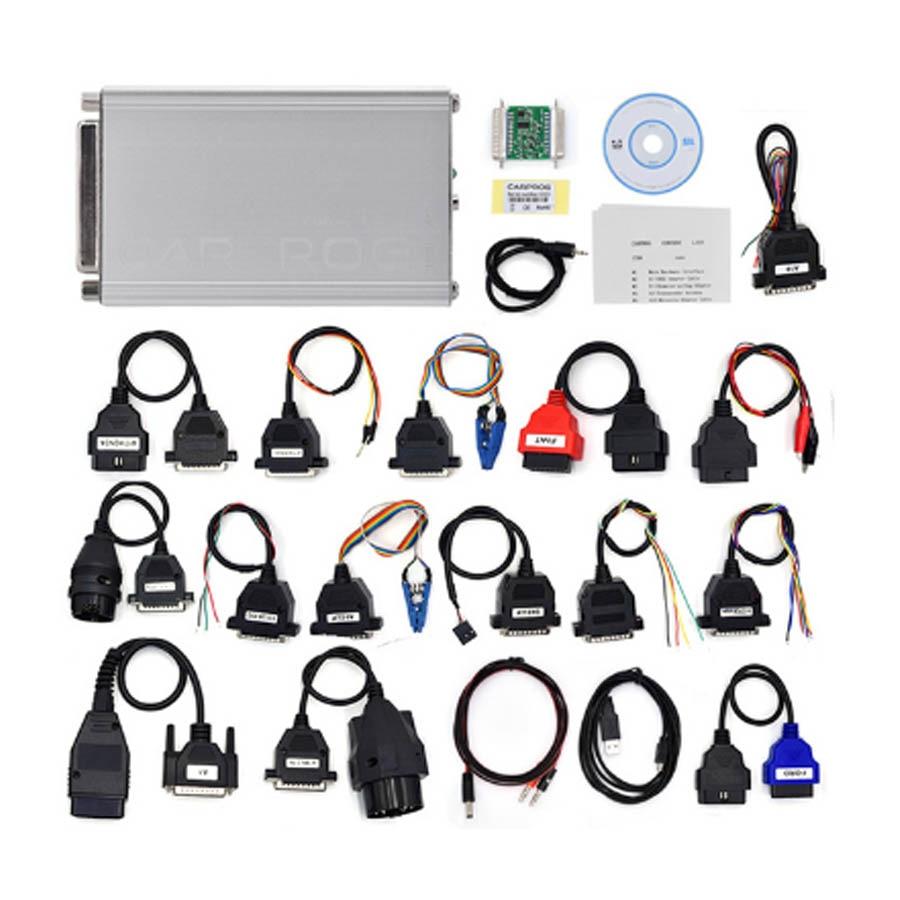 Latest CARPROG Full Set V10 93 Programmer Auto Repair Airbag Reset Tools Car Prog ECU Chip