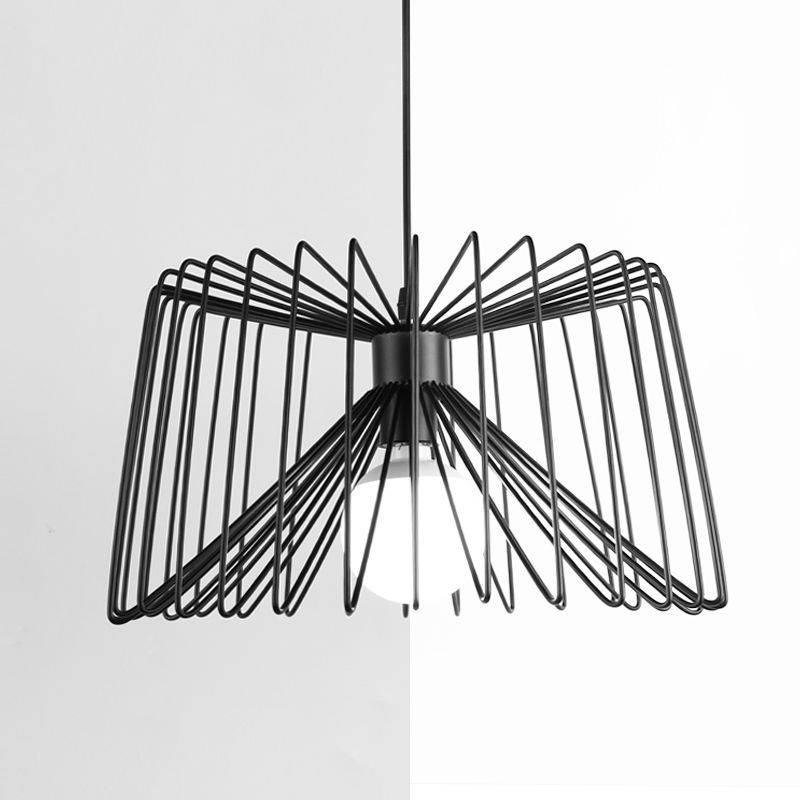 Modern Black Iron Pendant Light Bedroom Lighting Ceiling Fixture Lamp E27 wrought iron pendant light modern brief lighting fitting bedroom lamp pendant lamp e27 5w white black body