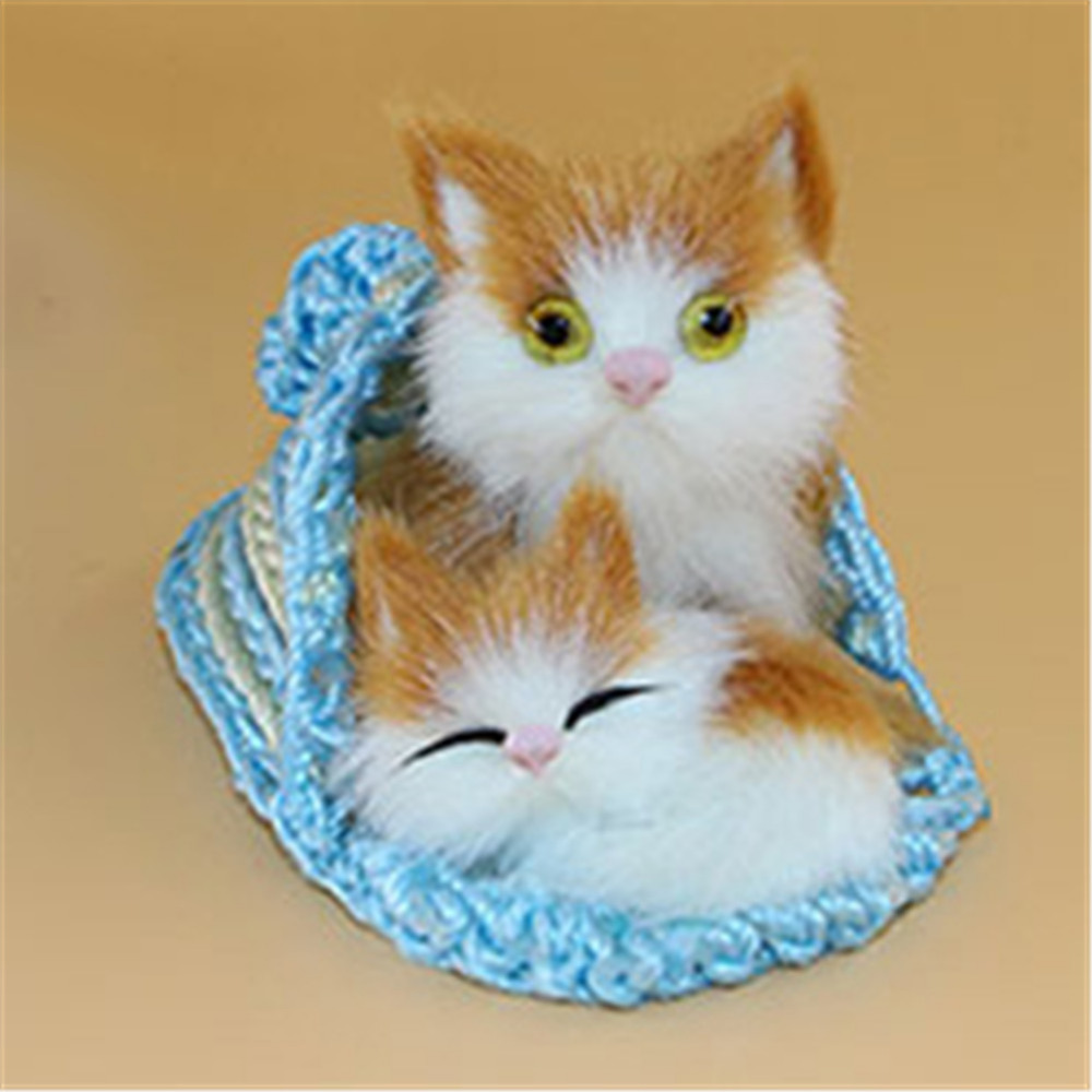 Welding Equipment Cute Simulation Animal Mother Cat And Kitten Plush Dolls Soft Cats Toys With A Frame Kids Toys Decorations Birthday Gift Moderate Price