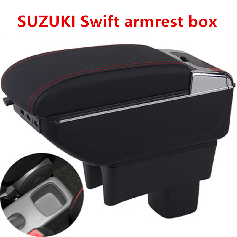 For SUZUKI Swift armrest box central Store content box cup holder ashtray products car-styling products accessories parts for suzuki jimny armrest box jimny2007 2018universal car central armrest storage box cup holder ashtray modification accessories