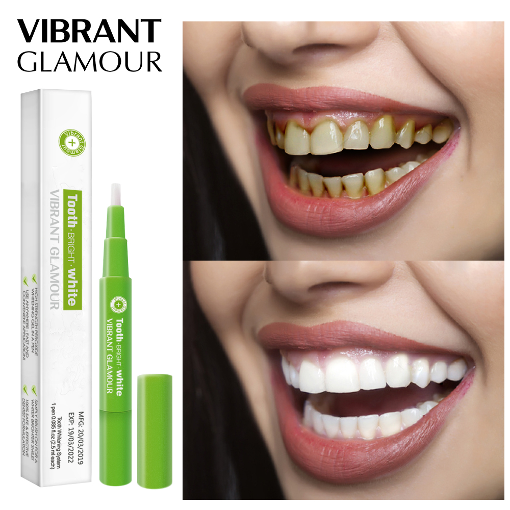 VIBRANT GLAMOUR Teeth Whitening Pen Cleaning Serum Remove Plaque Stains Dental Tools Oral Hygiene Tooth Gel WhitenningToothpaste(China)